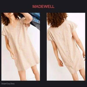 MADEWELL Striped Button Back Easy Dress